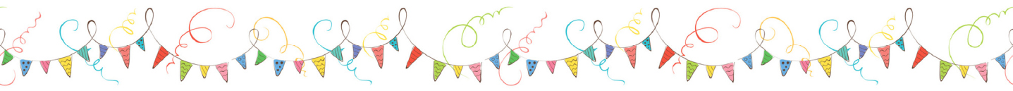 Colourful pennant and streamer illustration