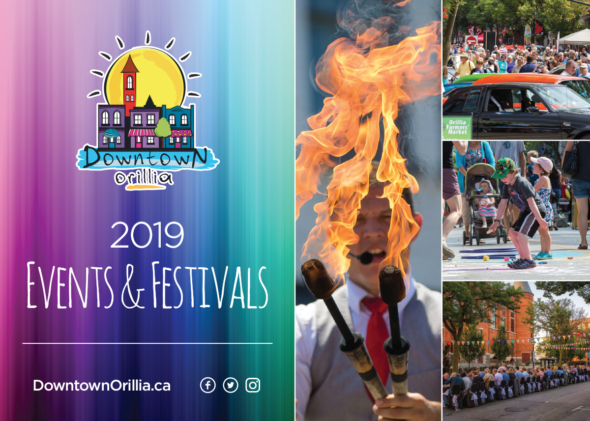 Downtown Orillia 2019 Events Postcard Front